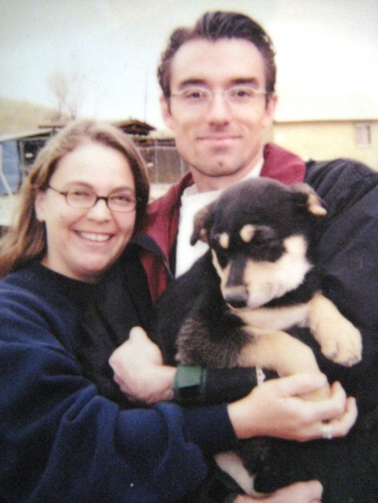 The day we adopted Obi, April 20, 2002
