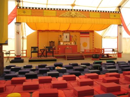Meditation Hall at Warrior Assembly, Shambhala Mountain Center, Summer of 2009