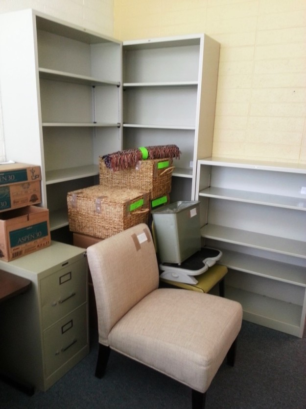 My office in boxes.