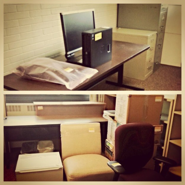 When I knew I was really on vacation -- my office was all packed up for the move back into the remodeled Eddy Hall