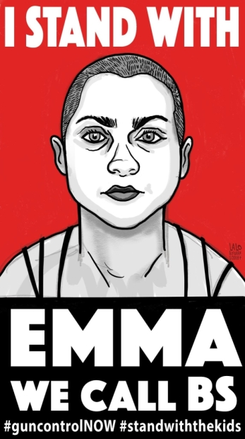 I stand with Emma poster