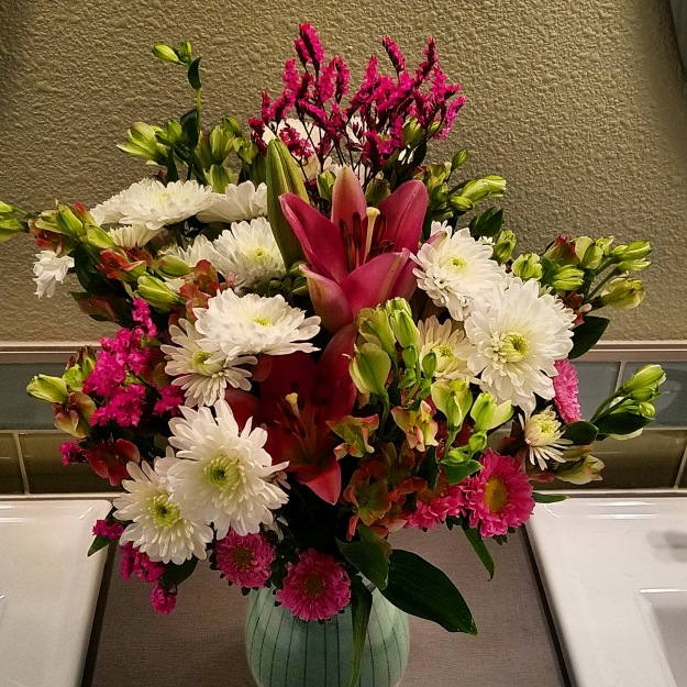 Flowers in the bathroom