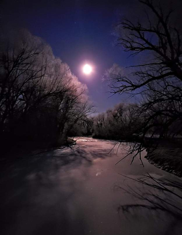 Moon over the Poudre, by Eric
